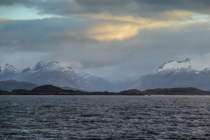 Sonnenuntergang Patagonien MS Midnatsol