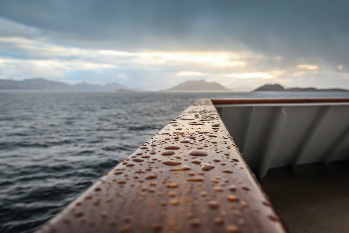 Sonnenuntergang Patagonien Reeling MS Midnatsol