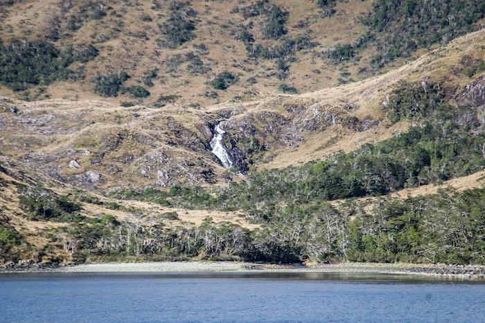 Wasserfall Feuerland MS Midnatsol