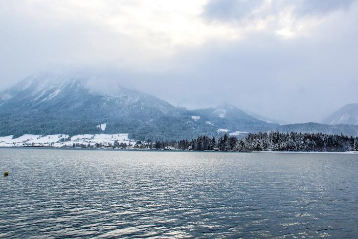 Salzkammergut Winterzauber Panorama Wolfgang See