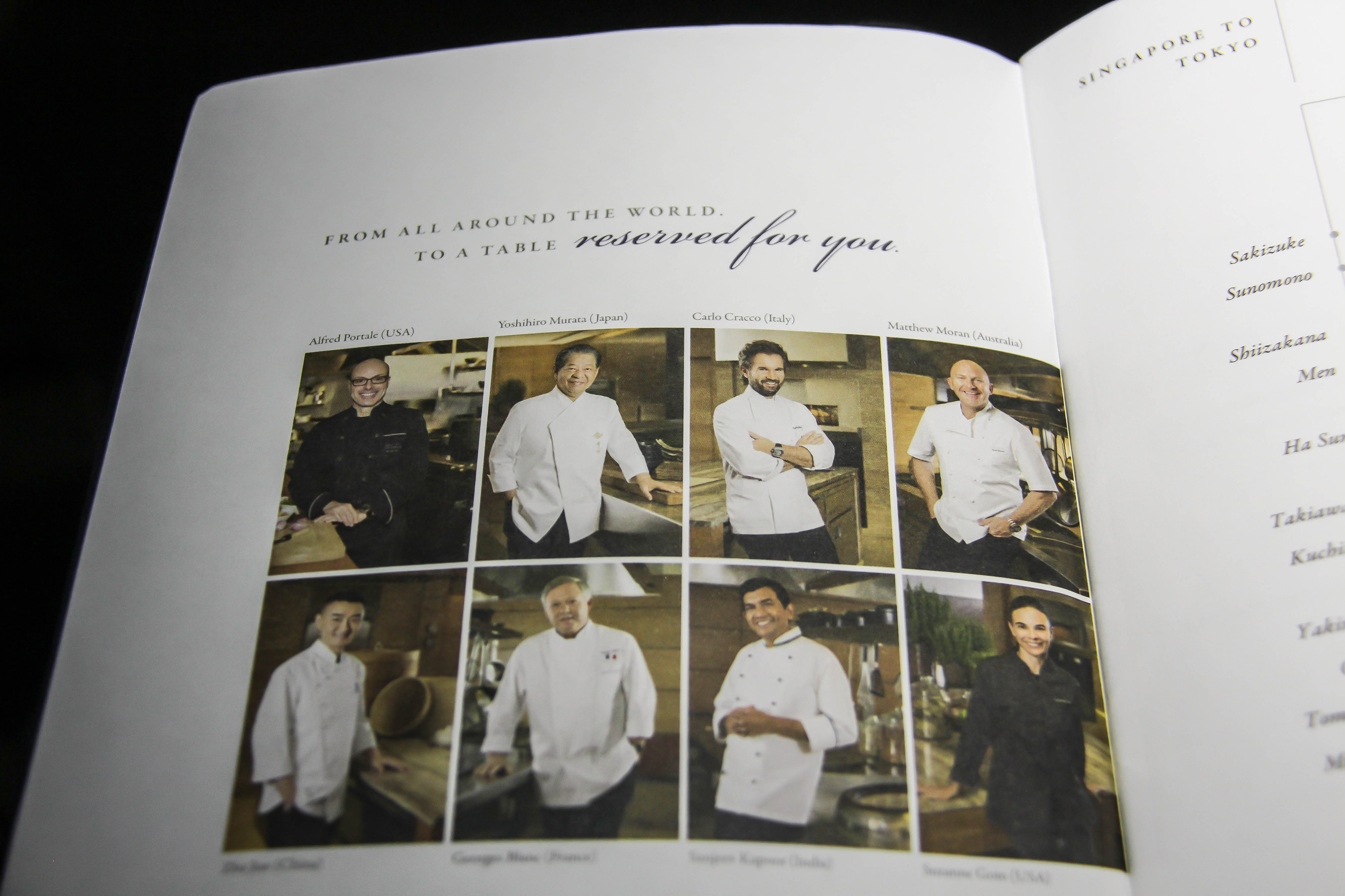 International Culinary Panel Singapore Airlines