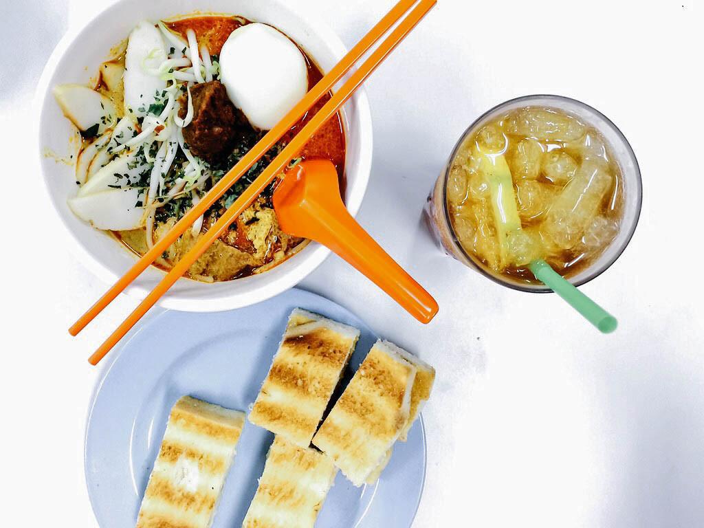 Singapore Fruehstueck Kaya Toast