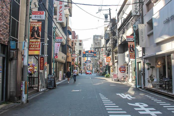 Orangestreet in Osaka 2 Reisefreunde