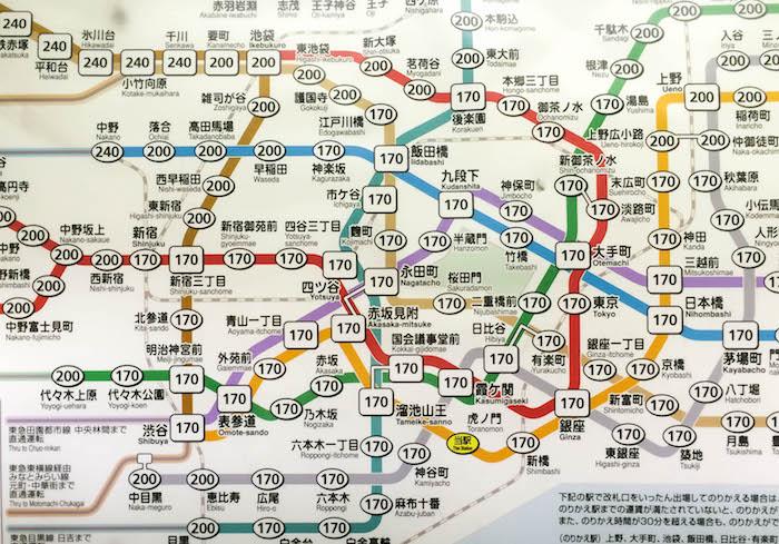 Ubahnnetz Tokio_