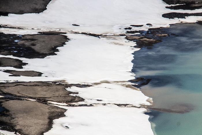 Erde Schnee Wasser Deception Island