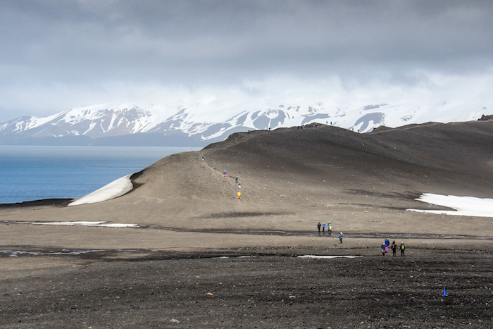Hiking Deception Island Antarctica