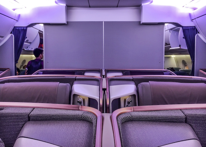 Singapore Airlines A350 Kabine Business Class